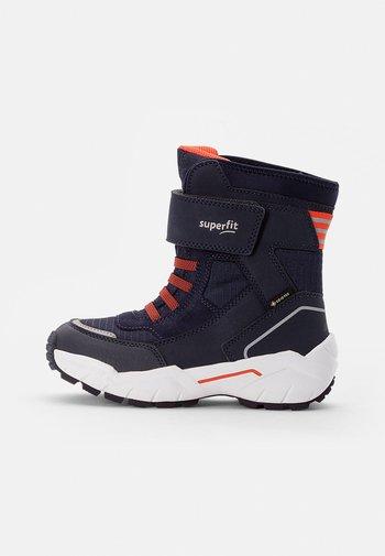 CULUSUK - Winter boots - blau/orange