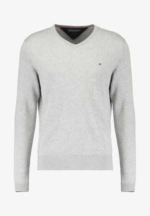 V-NECK  - Strikpullover /Striktrøjer - cloud heather