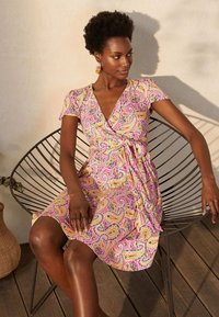Boden - Jersey dress - pink, sommerliches paisleymuster - 2
