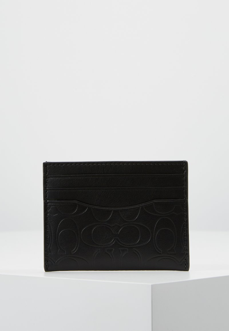 Coach - CARD CASE IN EMBOSSED SIGNATURE LEATHER - Wallet - black