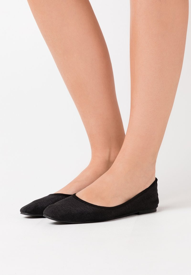 Rubi Shoes by Cotton On - ESSENTIAL CARINA SQUARE TOE BALLET - Ballerina - black
