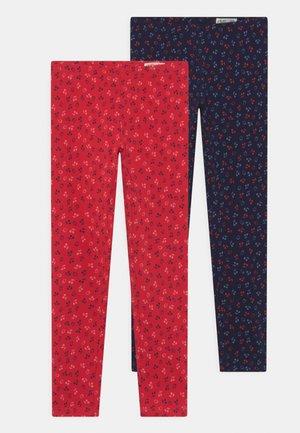 KID 2 PACK - Leggings - Trousers - salute/tomato