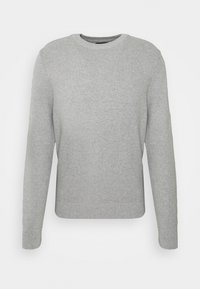 J.LINDEBERG - ANDY STRUCTURE C-NECK - Jumper - stone grey melange - 4