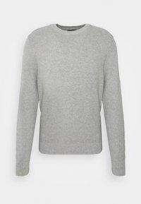 ANDY STRUCTURE C-NECK - Stickad tröja - stone grey melange