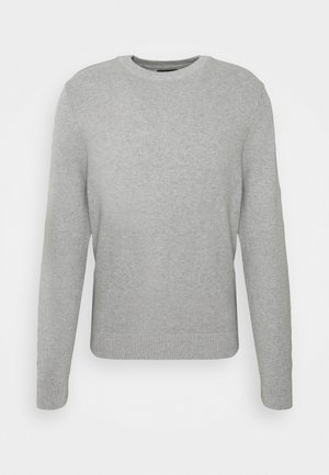 ANDY STRUCTURE C-NECK - Trui - stone grey melange