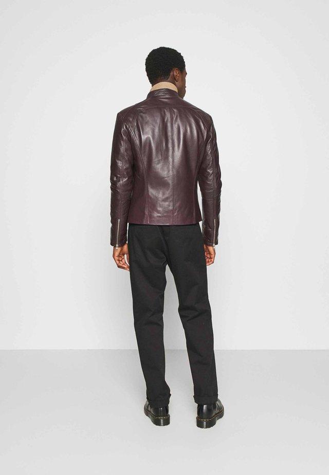 LENI - Leather jacket - burgundy