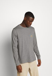 Carhartt WIP - POCKET  - Long sleeved top - dark grey heather - 0