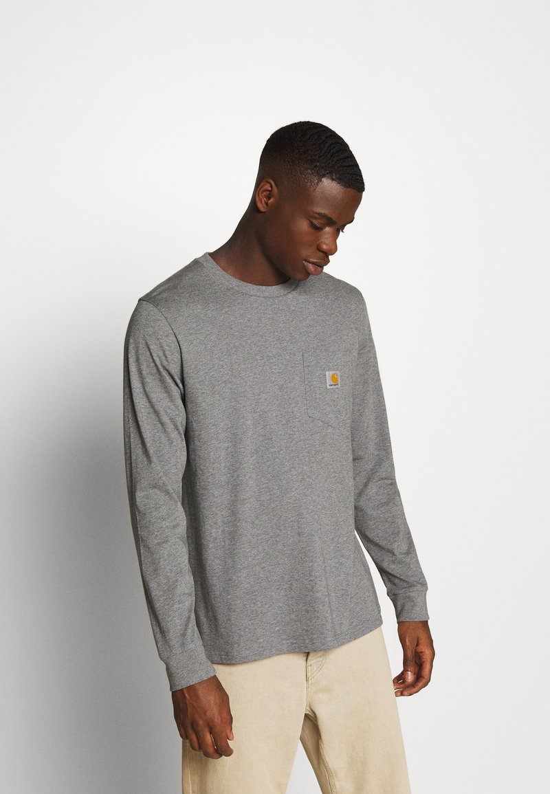 Carhartt WIP - POCKET  - Long sleeved top - dark grey heather