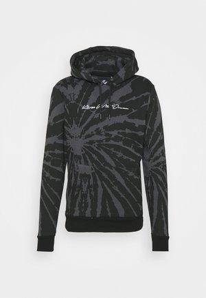 AVALON TIE DYE HOODIE - Sweatshirt - asphalt/black