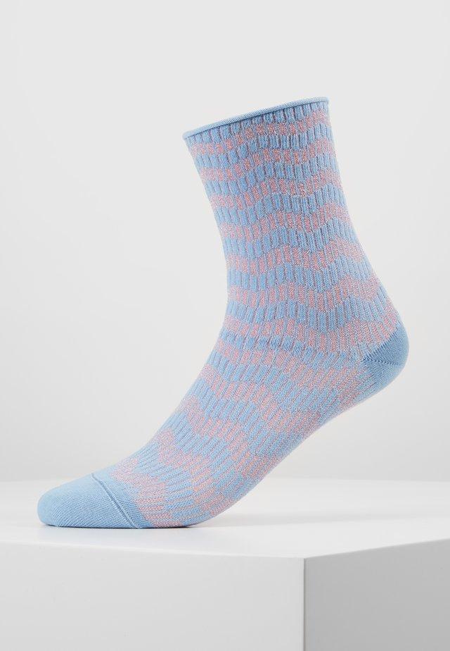 KAREN ZIG ZAG - Strumpor - blue/pink