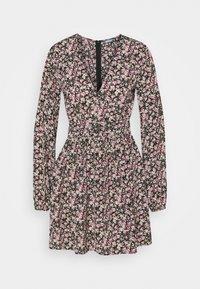 Missguided - NECK SKATER DRESS - Day dress - black - 0
