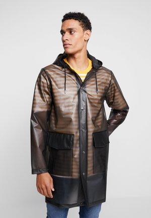 UNISEX HOODED COAT - Waterproof jacket - foggy black