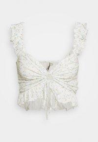 DRAWSTRING CROP - Blouse - white