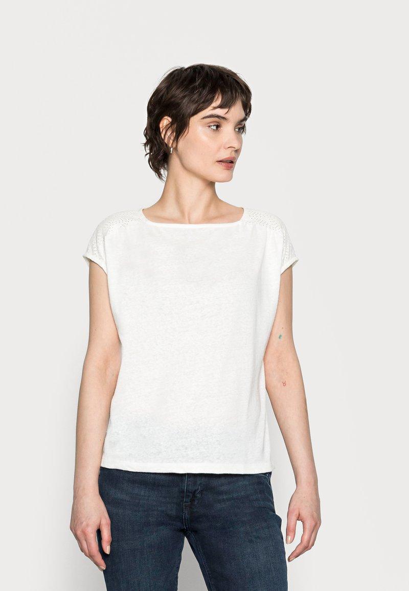 Opus - SEYMONA - Print T-shirt - milk