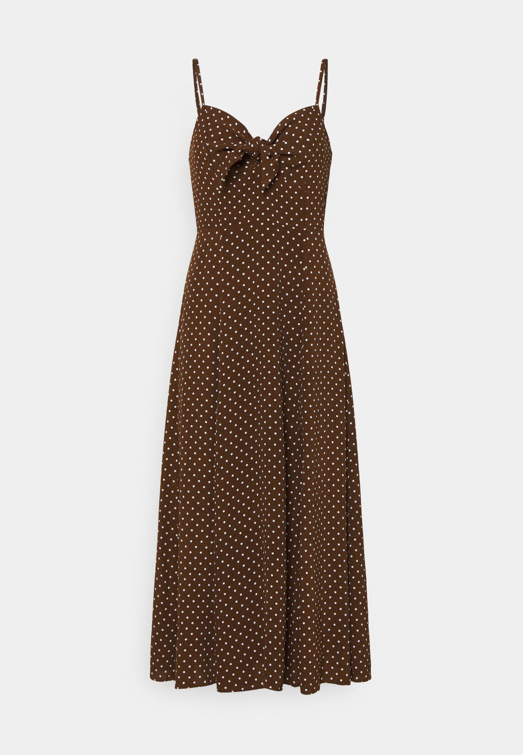 Women CLEMENTINE TIE FRONT MIDI DRESS - Day dress
