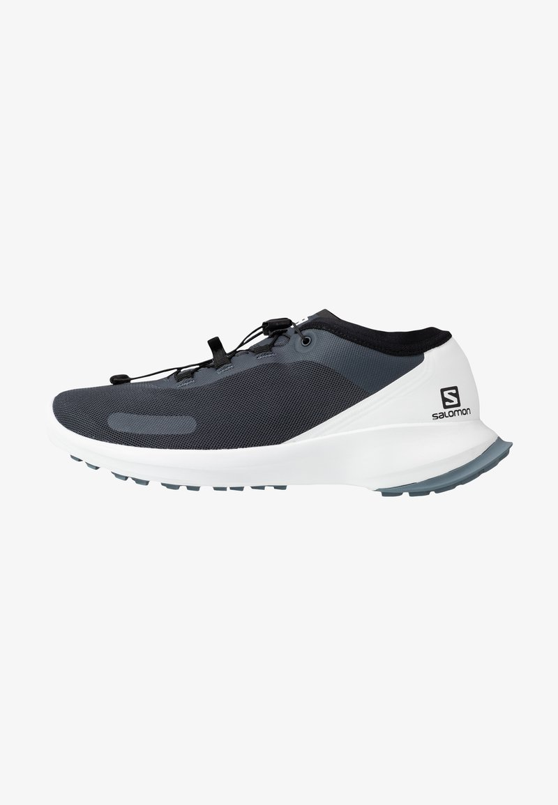 Salomon - SENSE FEEL - Trail running shoes - india ink/white/flint stone