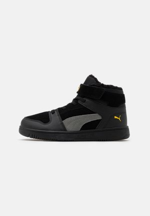 REBOUND LAYUP  - High-top trainers - black/ultra gray/super lemon