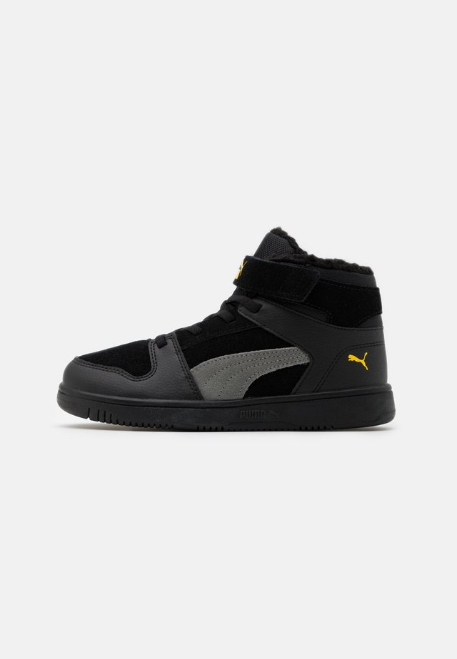 REBOUND LAYUP  - Sneakers hoog - black/ultra gray/super lemon