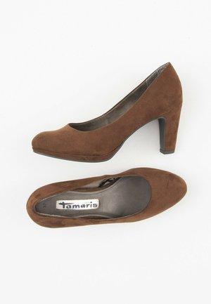 Plateaupumps - brown