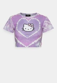 HEART TIE DYE BABY TEE - T-shirt con stampa - lilac