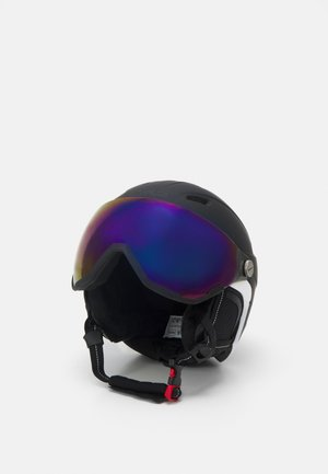 KIDS SKI HELMET WITH VISOR - Helmet - nero