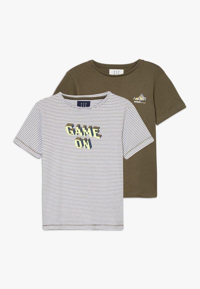 2 PACK - T-shirt imprimé - olive