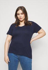 Anna Field Curvy - T-shirt basic - dark blue - 0