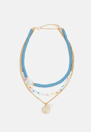 BEADED TWO ROW NECKLACE - Náhrdelník - gold-coloured