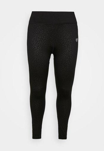 BOCA LEOPARD TIGHT CURVE - Leggings - black