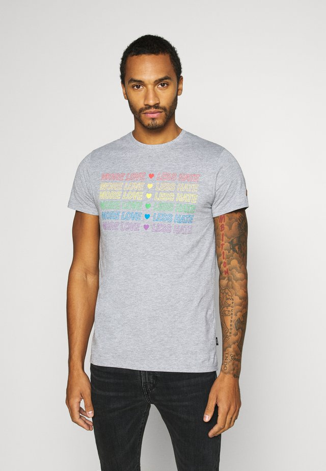UNISEX PRIDE GENTRY - T-shirt imprimé - light grey melange