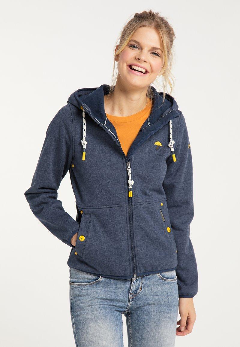 Schmuddelwedda - Zip-up sweatshirt - marine melange