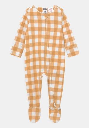THE LONG SLEEVE ZIP ROMPER - Sleep suit - vintage honey/vanilla