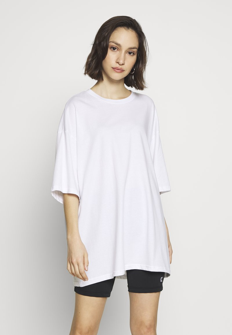 Monki - CISSI TEE  - T-shirts - white light