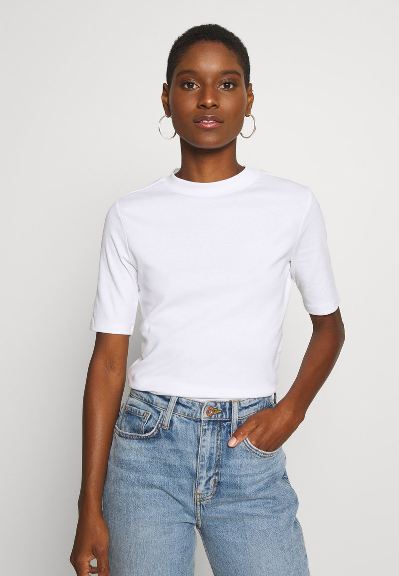 edc by Esprit - CORE HIGH - Basic T-shirt - white