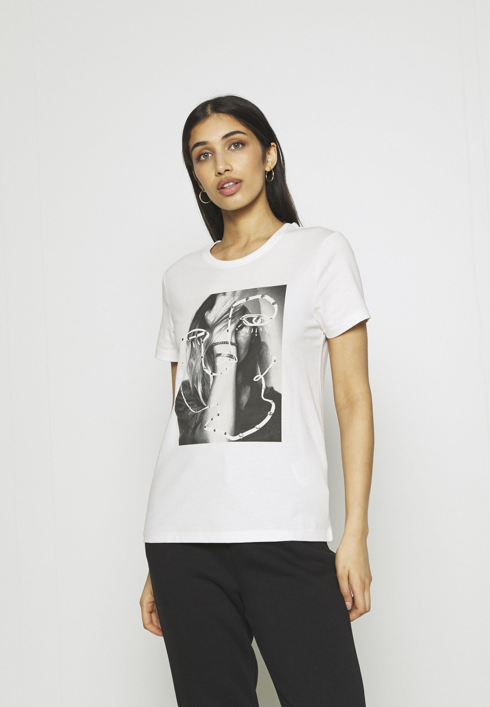 Femme ONLKITA LIFE FACE DOT BOX - T-shirt imprimé