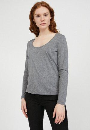 JAMAAL - Long sleeved top - mid grey melange