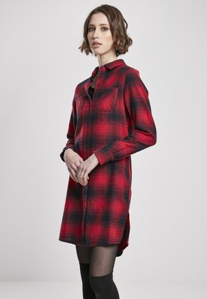 Shirt dress - darkblue/red