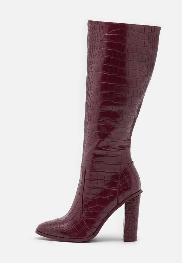 CELENI - Bottes à talons hauts - burgundy