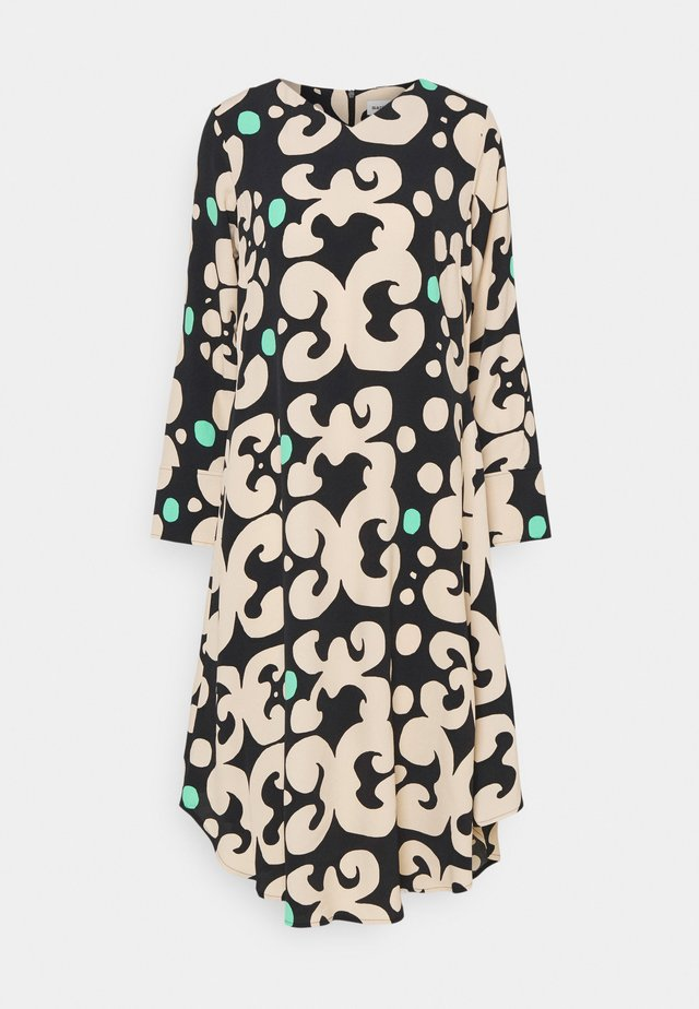 KEHO PIENI KEIDAS DRESS - Korte jurk - black/beige/green