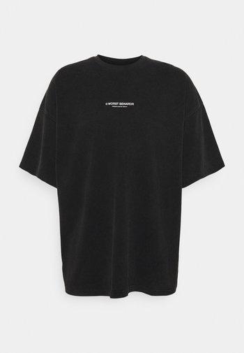 WIDE SHUT UNISEX - T-shirt med print - black