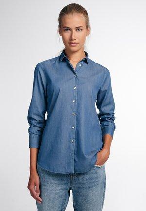 Button-down blouse - jeansblau