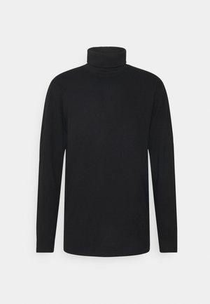 ROLLNECK TEE - Long sleeved top - black
