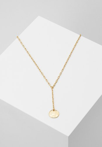 SINGLE COIN LARIAT NECKLACE
