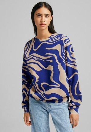 MIT PSYCHEDELISCHEM  - Sweatshirts - blue