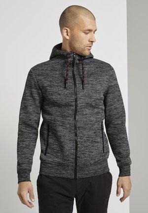 Zip-up hoodie - white grey mouline