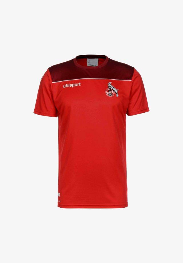 T-shirt print - rot / bordeaux / weiß