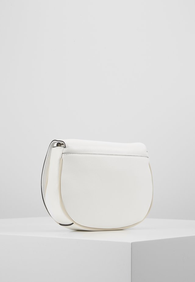 CHAIN SADDLE BAG - Across body bag - white