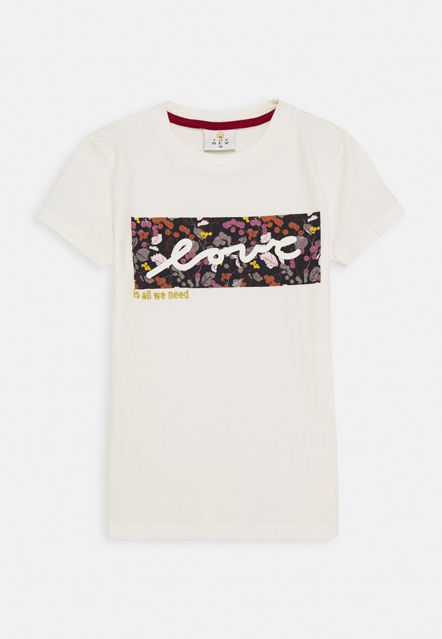 RUBBA TEE - Print T-shirt - cloud dancer