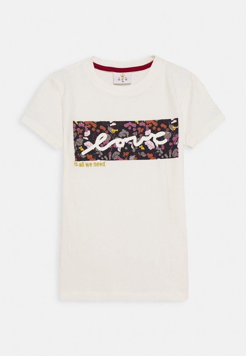 The New - RUBBA TEE - Print T-shirt - cloud dancer