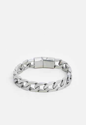 LARGE CUBAN LINK CHAIN BRACELET - Bracelet - silver-coloured